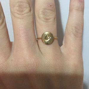 """Adjustable Kate spade """"C"""" ring"""